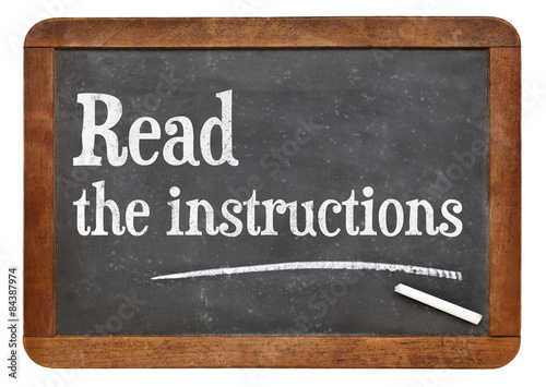 Fotografie, Obraz  Read the instructions advice