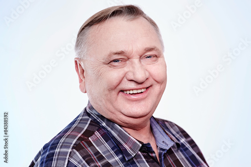 Valokuva  Laughing senior man portrait