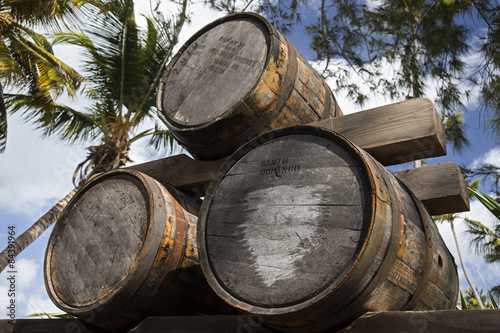 Barrels of alcohol