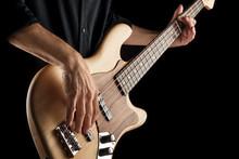 Bassist Playing Jazz Bass
