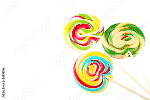 Keuken foto achterwand Snoepjes Lollipops isolated on white