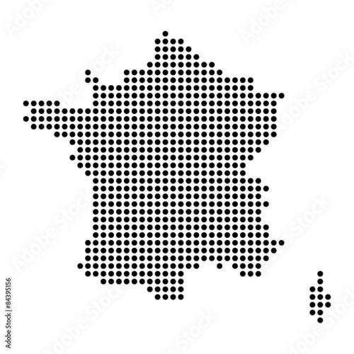 Plagát  Map of France