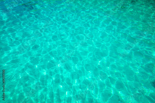 Poster Groene koraal Sea water background.