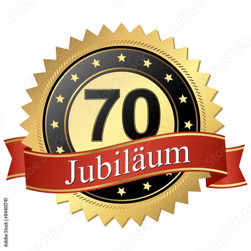 Jubilee button with banners german - Jubiläum 70 Jahre Poster