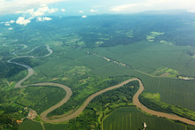 Meandering River Viewed From T...