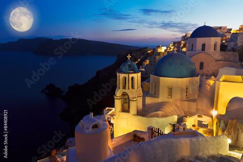 Fototapeta Oia village at night, Santorini obraz