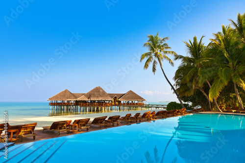 Fotografie, Obraz  Pool on tropical Maldives island