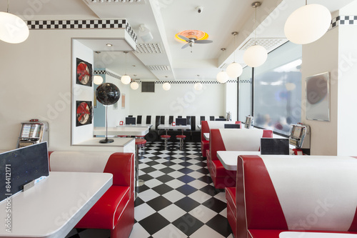 Fotografia  american diner restaurant