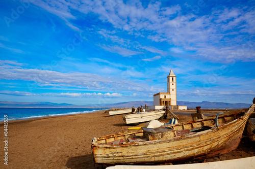Fototapeta premium Cabo de Gata w kościele San Miguel Beach Salinas