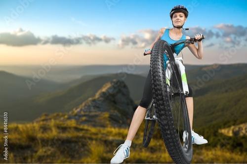 obraz dibond Jazda na rowerze, wypożyczalnia rowerów, jazda na rowerze.