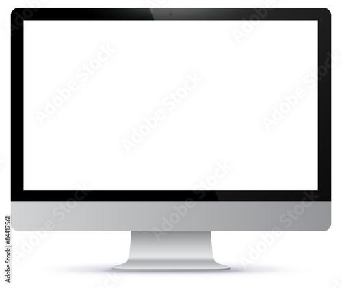 Computer screen vector illustration Canvas Print