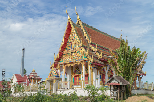 Staande foto Temple the ancient temple with sky background at Wat Khum Kaew