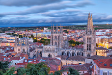 View On Burgos Cathedral From The Hill