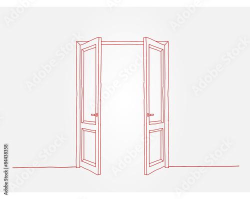 Fotografía  Red contour doors