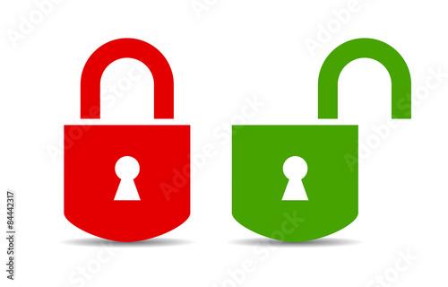 Fotografía Open and closed lock icon
