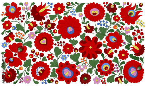 Fotografering  Hungarian embroidery pattern for pillows