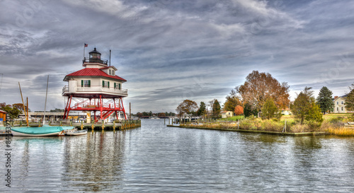 Fotografie, Obraz  Drum Point Lighthouse in Maryland