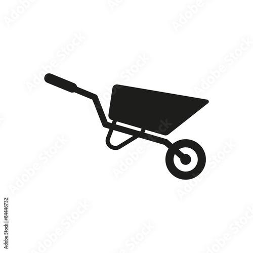 Photo The wheelbarrow icon. Barrow symbol. Flat