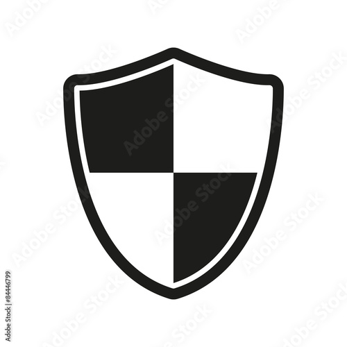 Fotografie, Obraz  The shield icon. Security and safety, firewall symbol.