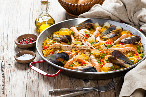 Obraz na plátně Španělský mořské plody paella
