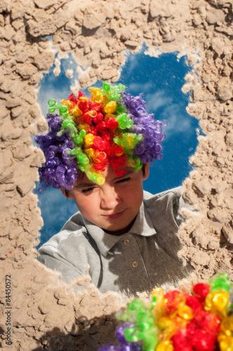 Fotografie, Obraz  Boy in Afro wig
