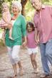 Grandparents On Country Walk With Grandchildren