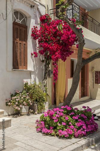 Printed kitchen splashbacks Narrow alley Chios Island, Pyrgi
