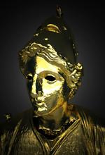 Antica Scultura In Oro, Nettuno, Venere, Atena