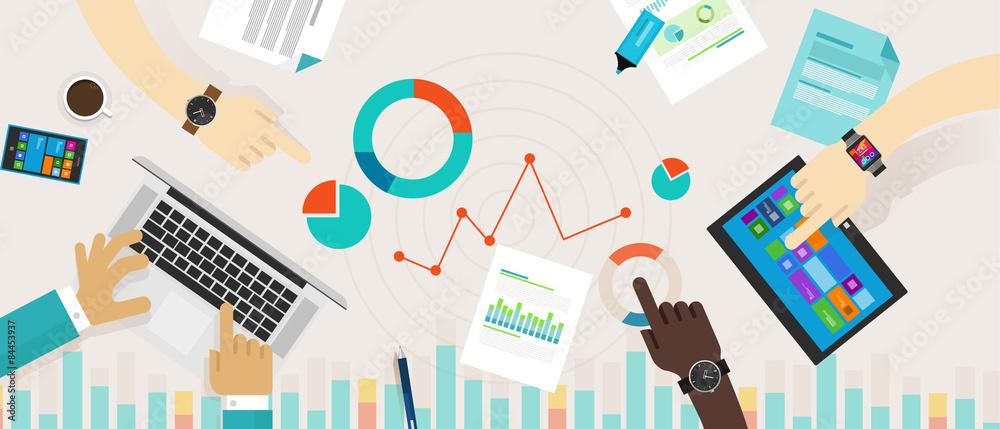 Fototapety, obrazy: Bar Graph Chart Data Information Infographic