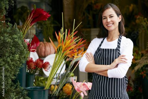 Portrait Of Female Florist Outside Shop