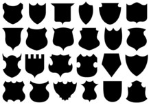 Set Of Different Shields Isola...