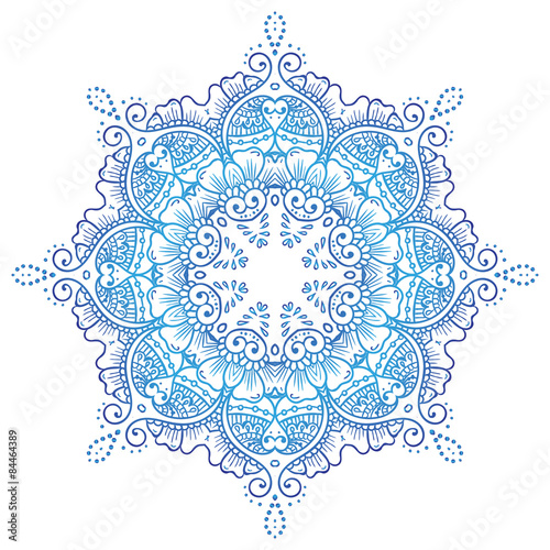 03b8e3b7b Circular floral ornament Mehndi Henna Tattoo Mandala, Yantra or ...