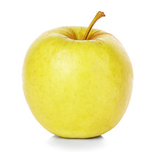 Yellow Apple Isolated On White...