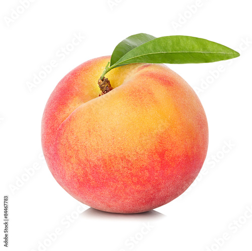 Foto Peach isolated on white background