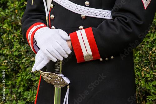 Photo  Corazziere, guardia d'onore presidenziale italiana - dettaglio