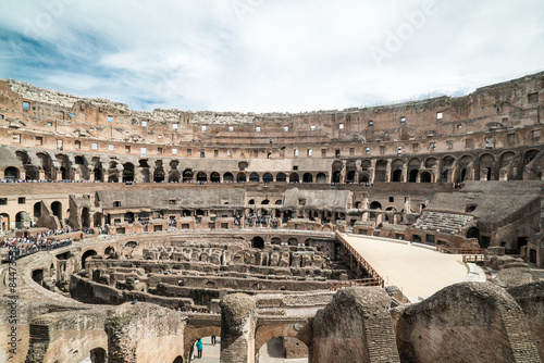 Coliseo Romano Interior Desde El Lateral Kaufen Sie Dieses Foto