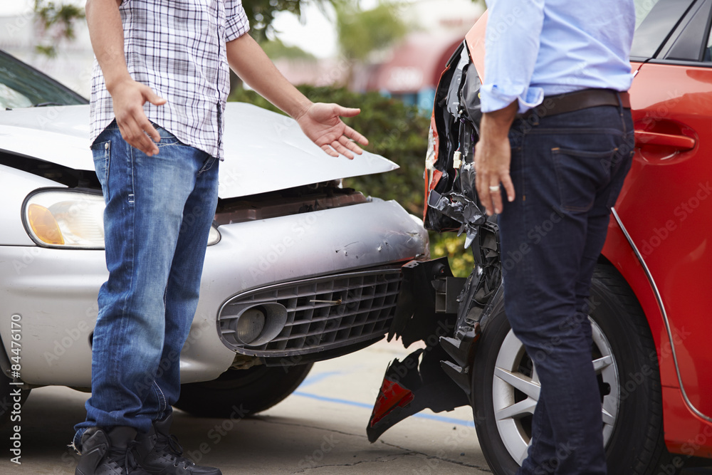 Fototapety, obrazy: Two Drivers Arguing After Traffic Accident