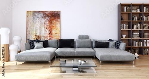 Soggiorno con divano – kaufen Sie diese Illustration und finden Sie ...