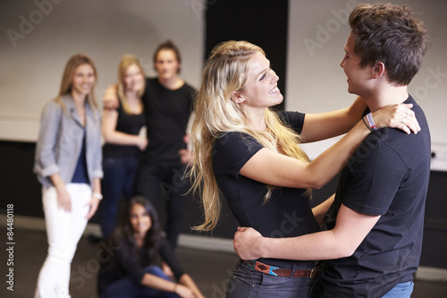 Photo  Students Taking Acting Class At Drama College