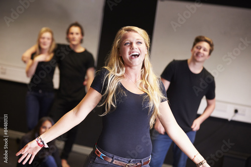 Photo  Students Taking Singing Class At Drama College