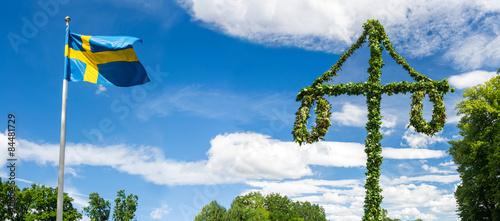 Fotografía  Midsummer traditional Swedish symbols