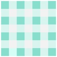 Blue Green Checkered Tablecloths Pattern