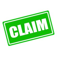 CLAIM White Stamp Text On Gree...