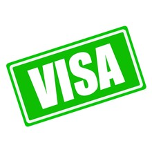 VISA White Stamp Text On Green...