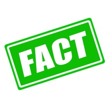 FACT White Stamp Text On Green Background