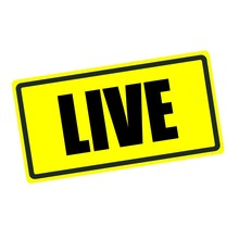Live Back Stamp Text On Yellow Background