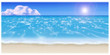 Illustration of the sandy beach. / Cobalt blue.