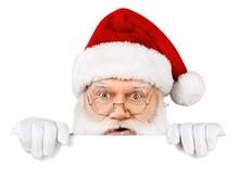 Santa Claus, Christmas, Clock.