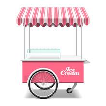 Ice Cream Cart Vector Illustra...