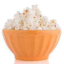 Popcorn In A Orange Bowl